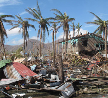 A sample of the devastation wrought by Typhoon Haiyan in Tacloban, Philippines.  Photo Credit: Wikimedia Commons